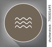 waves sign illustration. vector....   Shutterstock .eps vector #700301695