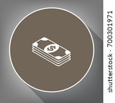 bank note dollar sign. vector....   Shutterstock .eps vector #700301971