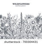 vector seamless pattern with... | Shutterstock .eps vector #700304431