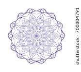 flower mandalas. vintage... | Shutterstock .eps vector #700304791
