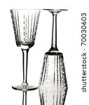 two crystal wine glasses ... | Shutterstock . vector #70030603
