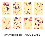 set of 8 abstract backgrounds...   Shutterstock .eps vector #700311751
