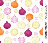 vector seamless pattern with... | Shutterstock .eps vector #700312027