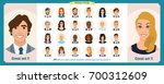 business avatars set.young... | Shutterstock .eps vector #700312609