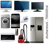set of household electronic...   Shutterstock .eps vector #70032016