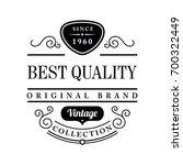 vintage label design. design... | Shutterstock .eps vector #700322449