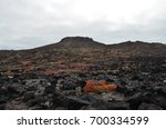 volcanic landscape on chinese... | Shutterstock . vector #700334599
