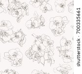 seamless floral pattern with... | Shutterstock .eps vector #700335661