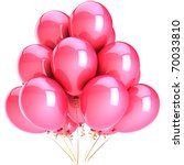 Party Balloons Pink Romantic...
