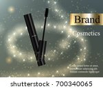 design makeup mascara black... | Shutterstock .eps vector #700340065