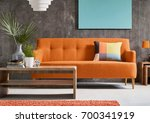 contemporary living room with... | Shutterstock . vector #700341919