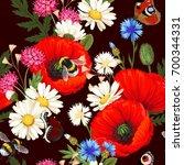 meadow flowers seamless | Shutterstock .eps vector #700344331