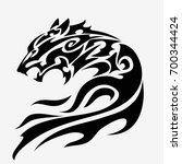 wolf head tattoo design isolated   Shutterstock .eps vector #700344424