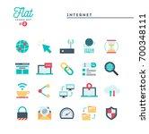 internet  global network  cloud ... | Shutterstock .eps vector #700348111