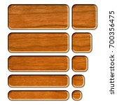 wooden set of rounded corner... | Shutterstock . vector #700356475