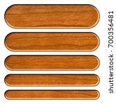 wooden set of rounded corner... | Shutterstock . vector #700356481