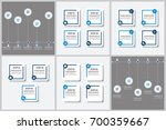 infographics template set  | Shutterstock .eps vector #700359667