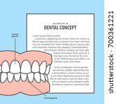 layout denture with frame... | Shutterstock .eps vector #700361221