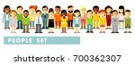 people characters set in flat... | Shutterstock .eps vector #700362307