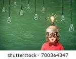 bright idea  funny child in... | Shutterstock . vector #700364347