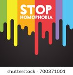 stop homophobia. support of... | Shutterstock . vector #700371001