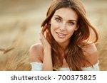 portrait of a beautiful girl in ... | Shutterstock . vector #700375825