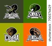 furious snake  cobra  dinosaur... | Shutterstock .eps vector #700376629