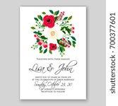 wedding invitation template... | Shutterstock .eps vector #700377601