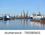 view of the kaliningrad trade... | Shutterstock . vector #700380601