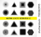 vector set of various halftone... | Shutterstock .eps vector #700382995