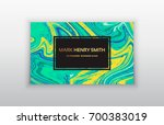 vector business card. luxury... | Shutterstock .eps vector #700383019