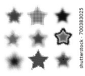 set of various black halftone... | Shutterstock .eps vector #700383025