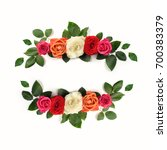 beautiful ornamental flower... | Shutterstock . vector #700383379