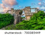 the temple of ixchel at beach... | Shutterstock . vector #700385449