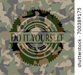 do it yourself on camouflage... | Shutterstock .eps vector #700389175