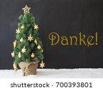 christmas tree  danke means... | Shutterstock . vector #700393801