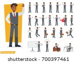 businessman working character... | Shutterstock .eps vector #700397461
