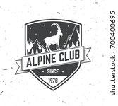 alpine club badge. vector... | Shutterstock .eps vector #700400695