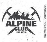 alpine club badge. vector... | Shutterstock .eps vector #700400701