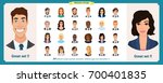 business avatars set.young... | Shutterstock .eps vector #700401835