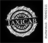 taxicab on chalkboard | Shutterstock .eps vector #700402111
