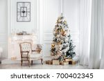 white room with christmas and... | Shutterstock . vector #700402345
