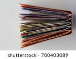 a colorful junk journal seen... | Shutterstock . vector #700403089