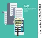 tax payment. vector... | Shutterstock .eps vector #700403401