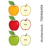vector set of apples. vector... | Shutterstock .eps vector #700406404