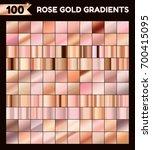 big golden metallic pack.... | Shutterstock .eps vector #700415095