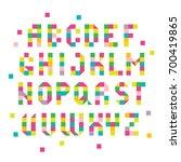 spectral geometric typefont.... | Shutterstock .eps vector #700419865