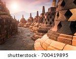 amazing sunrise view of stone...   Shutterstock . vector #700419895