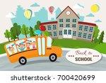 welcome back to school vector... | Shutterstock .eps vector #700420699