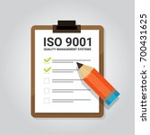 iso 9001 quality management... | Shutterstock .eps vector #700431625